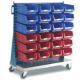 Topstore - Single Sided Louvred Trolley TC Bin Kits