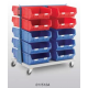 Topstore - Double Sided Louvred Trolley TC Bin Kits