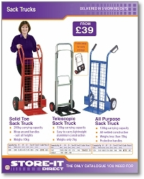 Sack Trucks And Handling from StoreItDirect.co.uk for all of your Shelving, Storage and Racking requirements